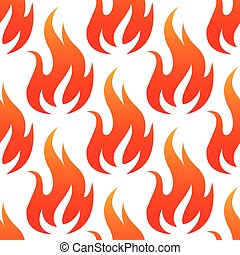 Red fire flames seamless pattern