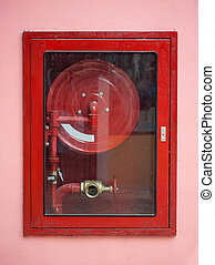 Fire Hose - Red Fire Hose Cabinet