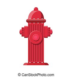 Red fire hydrant. Fire equipment.