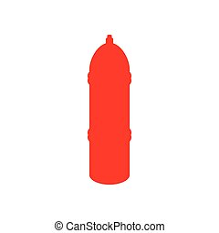 Red fire hydrant icon, cartoon style