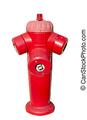 red fire hydrant isolated
