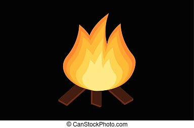 Red Fire icon isolated on background. Modern simple, flat blazing flame sign. Business, internet concept. Trendy vector torch symbol for website design, web button, mobile app. Logo illustration