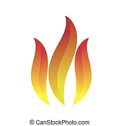 Fire Icon Isolated