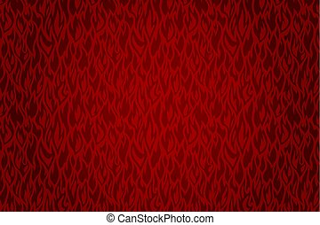 Red fire pattern