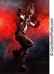 red fire steampunk