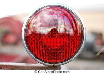 Red fire truck tail light