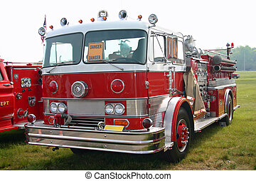 Red Fire Truck - This is a picture of an old red fire engine...