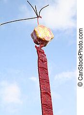 cracker - Red firecracker ,in Thai wedding ceremony