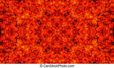 red fire,flower pattern