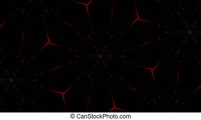 Red firework abstract video background