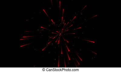 Red firework particle beautiful background