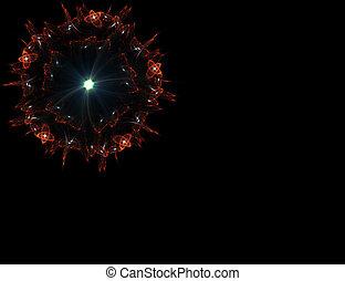 Red fireworks fractal
