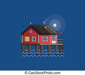 Red Fisherman Stilt House