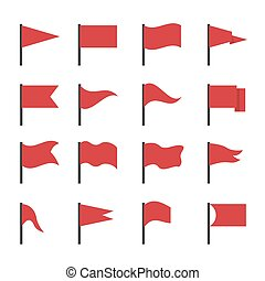 Red flag icons