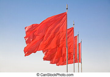 red flag in china beijing