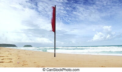 """red flag """"no swimming"""""""