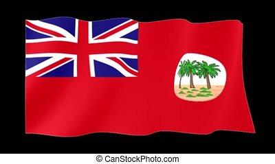 Red flag of Colonial Samoa. Waving flag