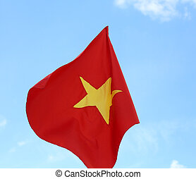 red flag of VIETNAM with the big yellow star