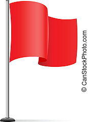 Vector single red flag