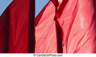 Red flags waving in the wind - Some red flags waving in the...