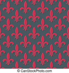 Red fleur de lis seamless background