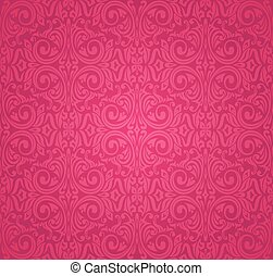 Red floral pattern wallpaper design background
