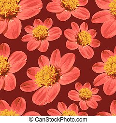 Red floral seamless pattern