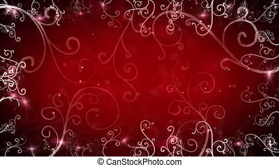 red flourishes frame loop