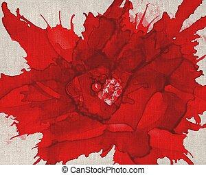 Red flower center big