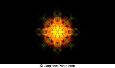 red flower orient religion pattern