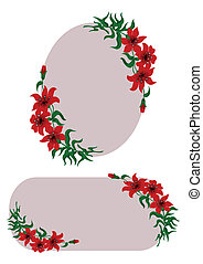 Red flowers decoration