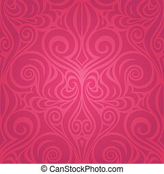 Red Flowers, Gorgeous decorative Floral fashion background wedding design