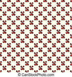 red flowers on a light background seamless pattern vector illustration