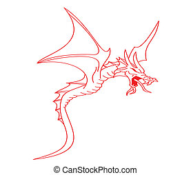 red flying dragon
