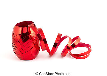 Red foil ribbon