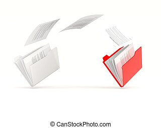 Red folder in a row