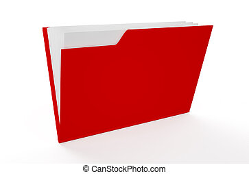red folder isolated on white background