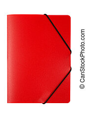Red folder isolated