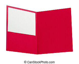 red folder isolated on white
