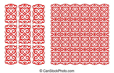 Red folk pattern