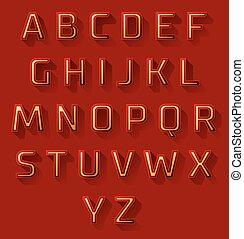 red font design set