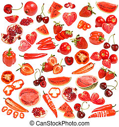 Red food collection