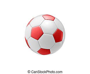 red football ball