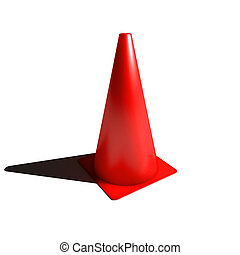 Red football soccer cone isolated