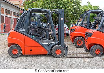 Red Forklift Trucks