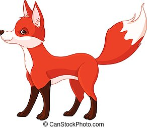 Red fox  - Illustration of very cute red fox