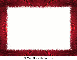 Red Fractal Border with White Copy Space.