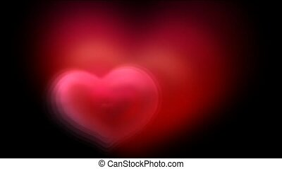 red fractal heart, good for valentine day.1080p