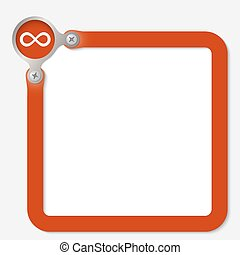 red frame for any text with infinity symbol