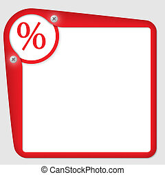 red frame for text with percent symbol